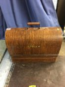 Cased sewing machine. Contactless collection is strictly by appointment on Thursday, Friday and