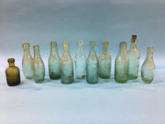 Eleven glass advertising bottles from Newcastle Upon Tyne, 3 Newcastle Breweries, W. B. Reid and
