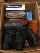 A box of binoculars