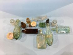 A tray of bottles to include W. Jackson of Sunderland, Democratic Club and Institute, M. Cummings,