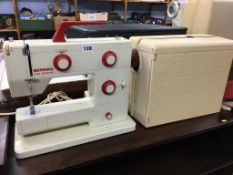 A Bernina Nova electronic sewing machine, cased