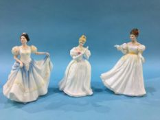 Three Royal Doulton figures, 'Kathleen', 'Denise' and 'Lindsay'