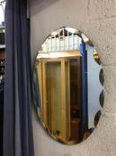 A frameless mirror