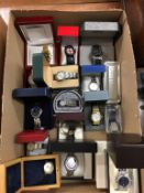 A box of wristwatches (all boxed)