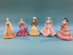 Five Coalport figures 'Ladies of Fashion'