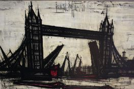 Print after Bernard Buffet, 'Tower Bridge', 47cm x 76cm
