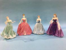 Four Coalport figures 'Lady Helen', 'Dearest Rose', 'Charity Ball' and 'True Love'