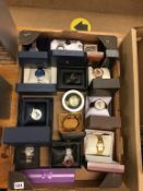 A quantity of boxed wristwatches
