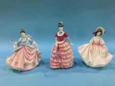 Three Royal Doulton figures 'Sunday Best', 'Rebecca' and 'Diane'