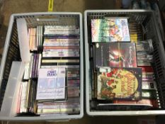 Four boxes of craft and jewellery making CDs, DVDs, craft books and magazines