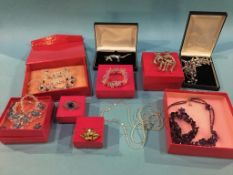 Ten boxes of Butler and Wilson crystal jewellery