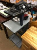 A circular saw and a router table