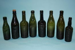 Collection of glass bottles