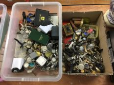 Quantity of watch parts