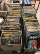 Large comic collection in four boxes