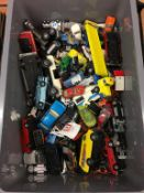 Tray of die cast cars