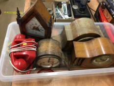 Quantity of mantel clocks and a GPO telephone