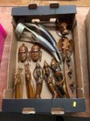 Quantity of African carvings