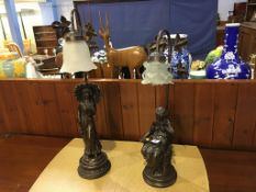 Two figural lamps