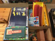 Assorted vintage toys and games, including Britains, Meccano etc.