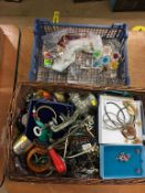 Two boxes of assorted to include a quantity of costume jewellery