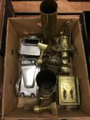 Assorted brass ware