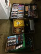 Five boxes of DVDs etc.