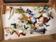 One box of glass animal figures