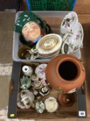 Two boxes of assorted including Royal Doulton Toby jug etc.