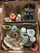 Two boxes miscellaneous to include Royal Doulton etc.