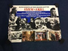 A View to a Kill' and various lobby cards and posters