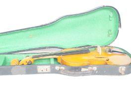 Old violin & case