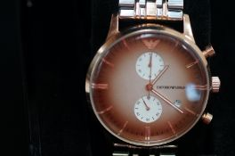 Gents Armani automatic wristwatch boxed as new