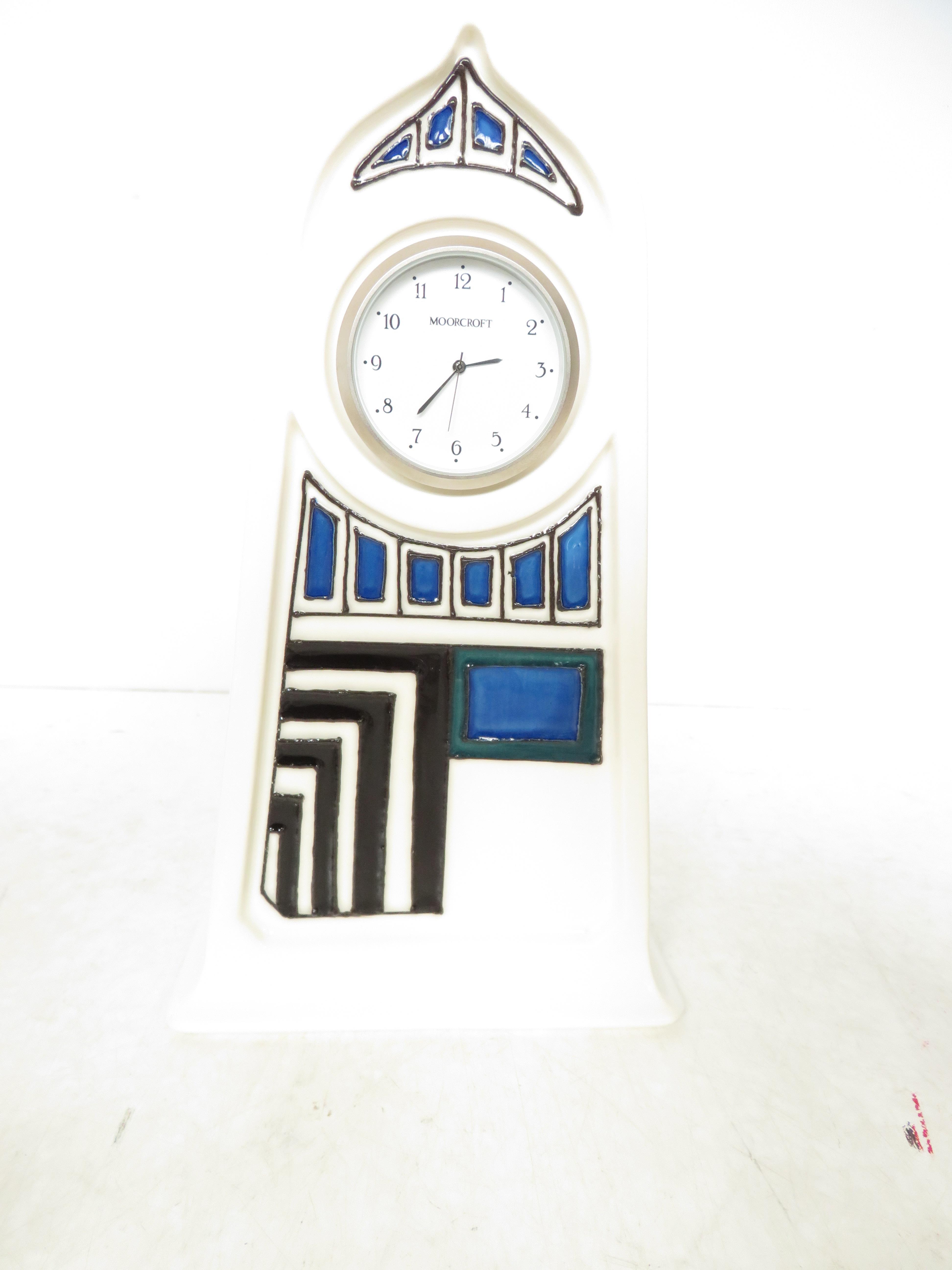 Lot 33 - Moorcroft 'Modernity clock' shape CL4 by Emma Boss