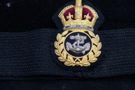 R.N submarine hat band