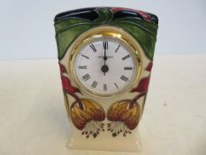 Moorcroft Anna lilly clock