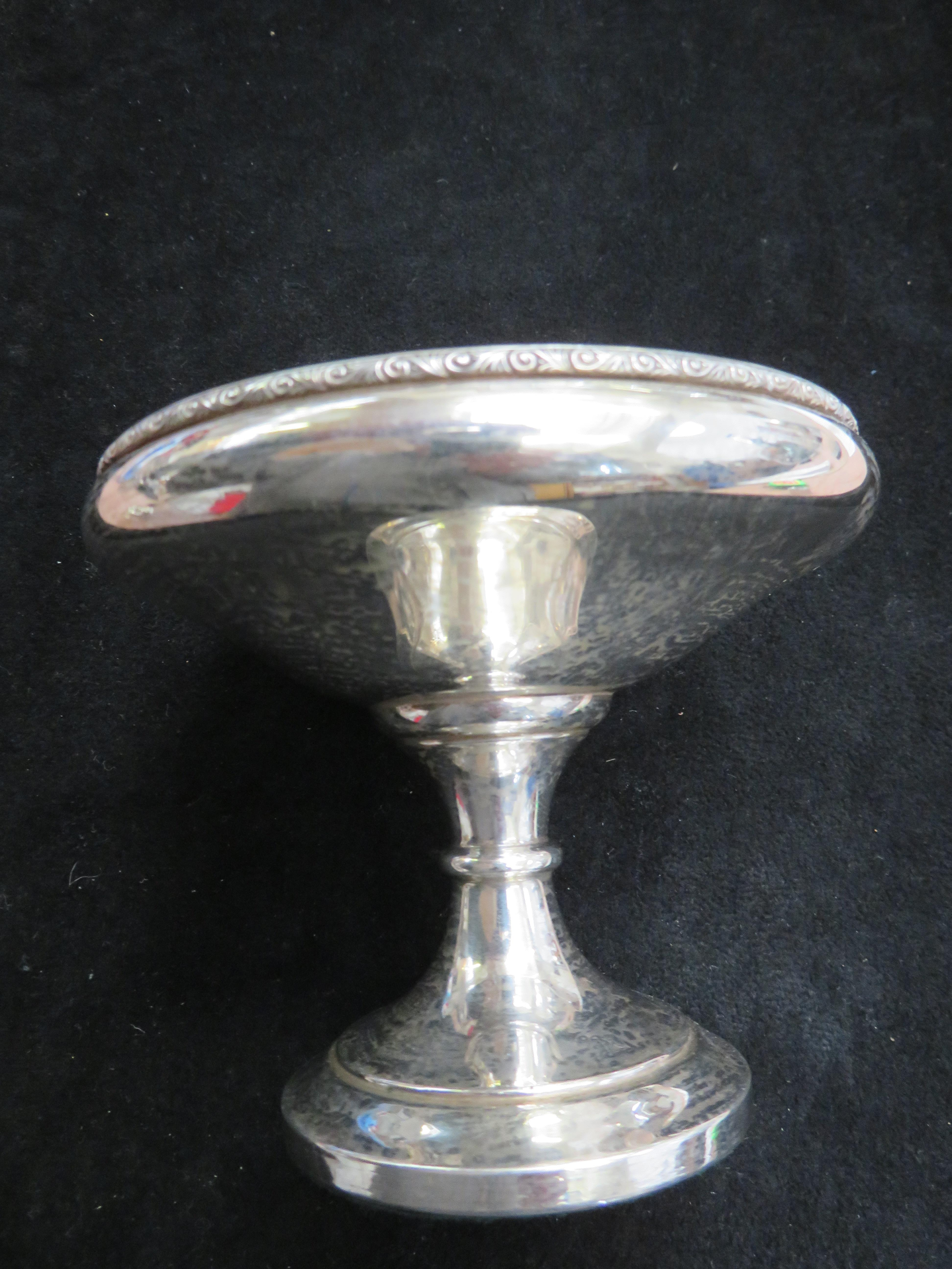Lot 244 - Silver footed dish Height 9 cm