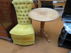 Buttoned back bedroom chair together with wine tab