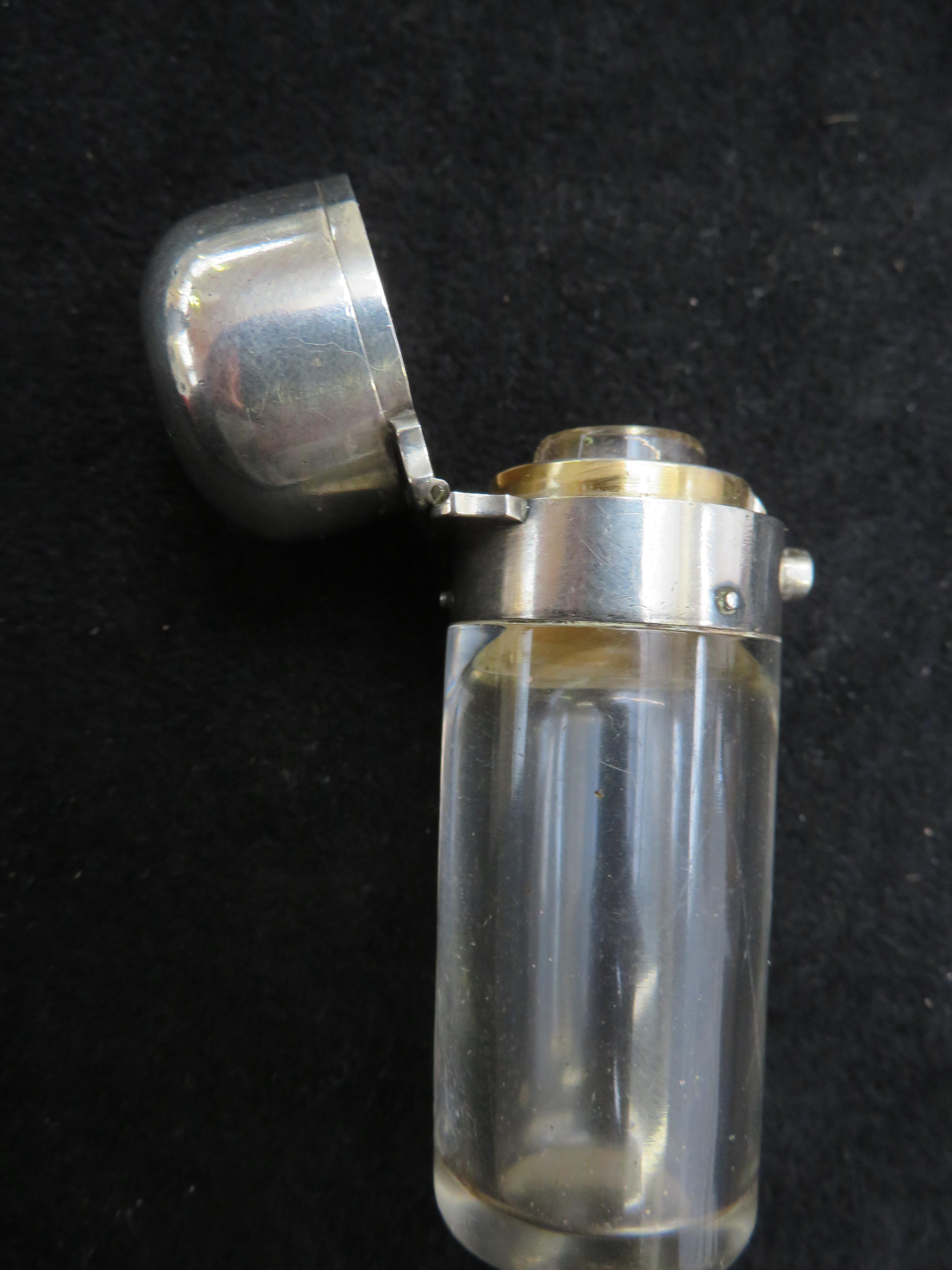Lot 247 - Silver Mappin & web perfume bottle