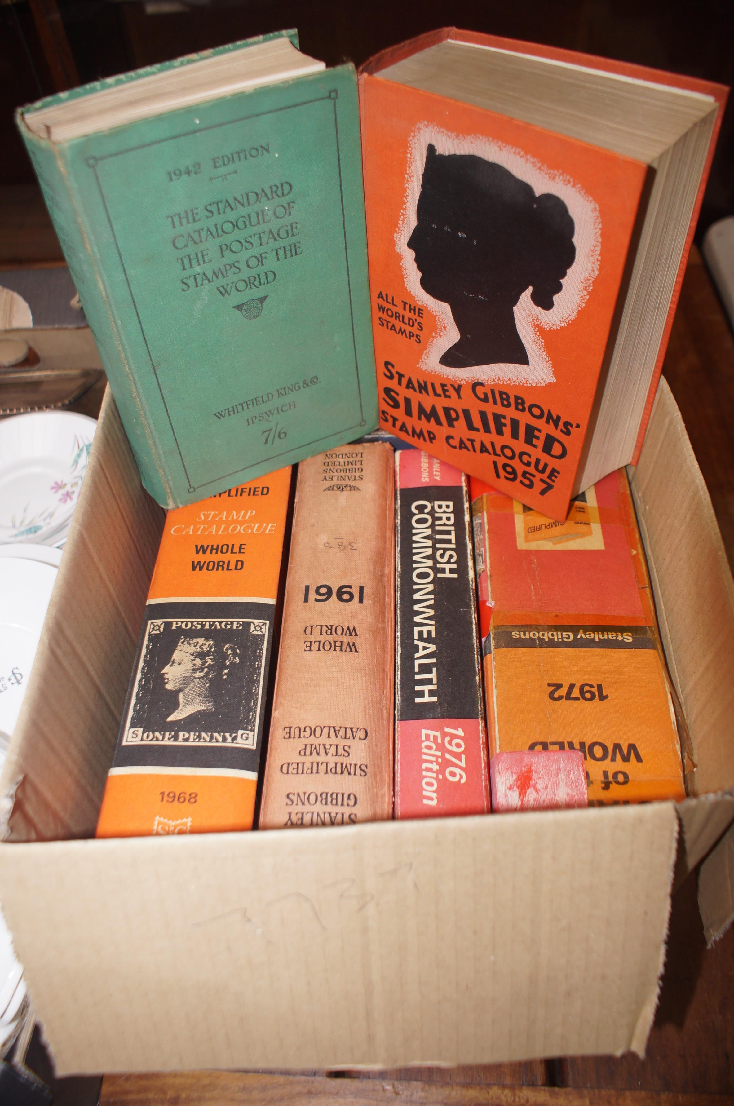 Lot 5 - Box of stamp reference books form the 60's & 70's
