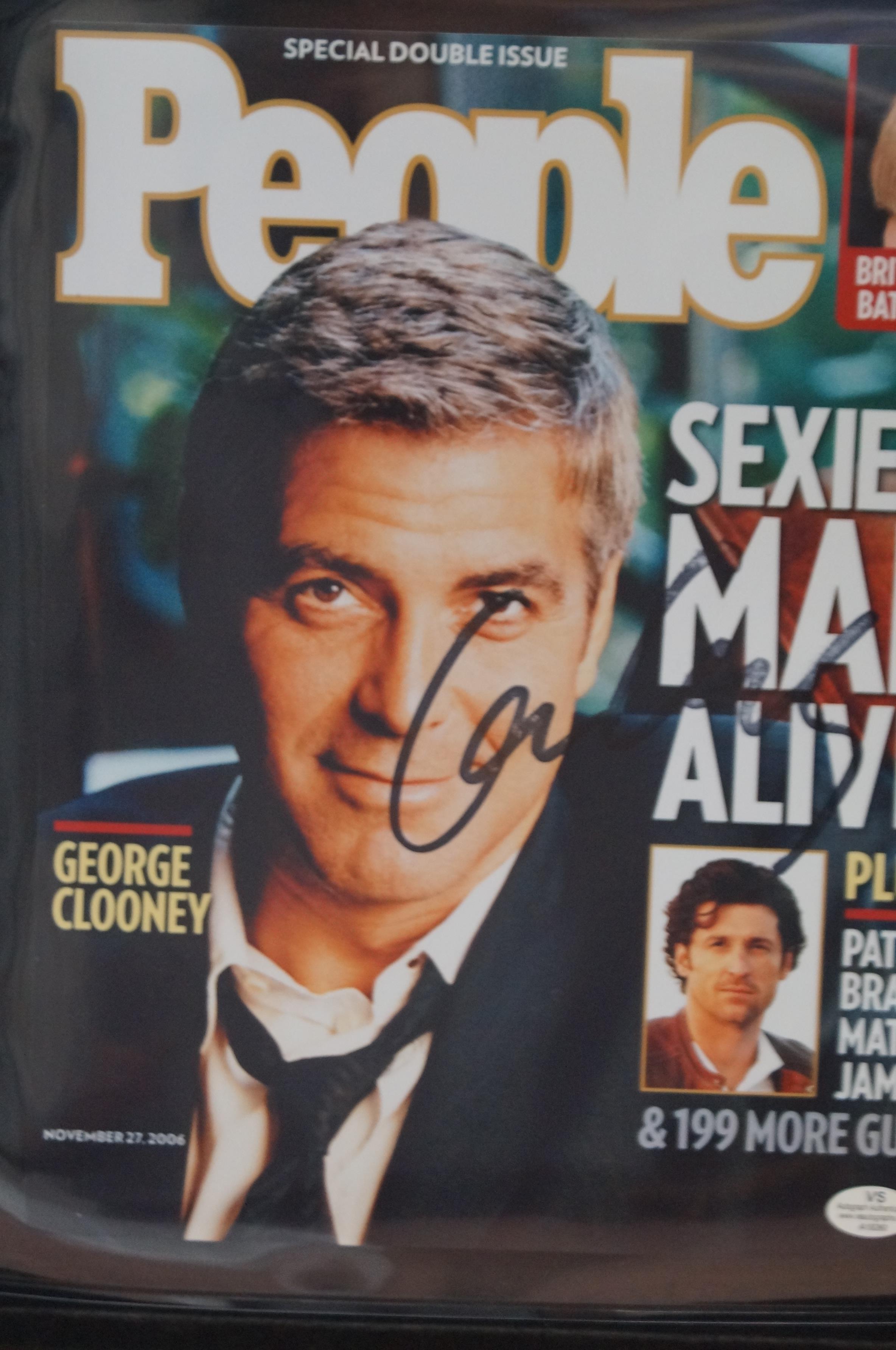 Lot 196 - George Clooney autograph coa from vsautographs.com