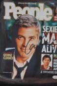 George Clooney autograph coa from vsautographs.com
