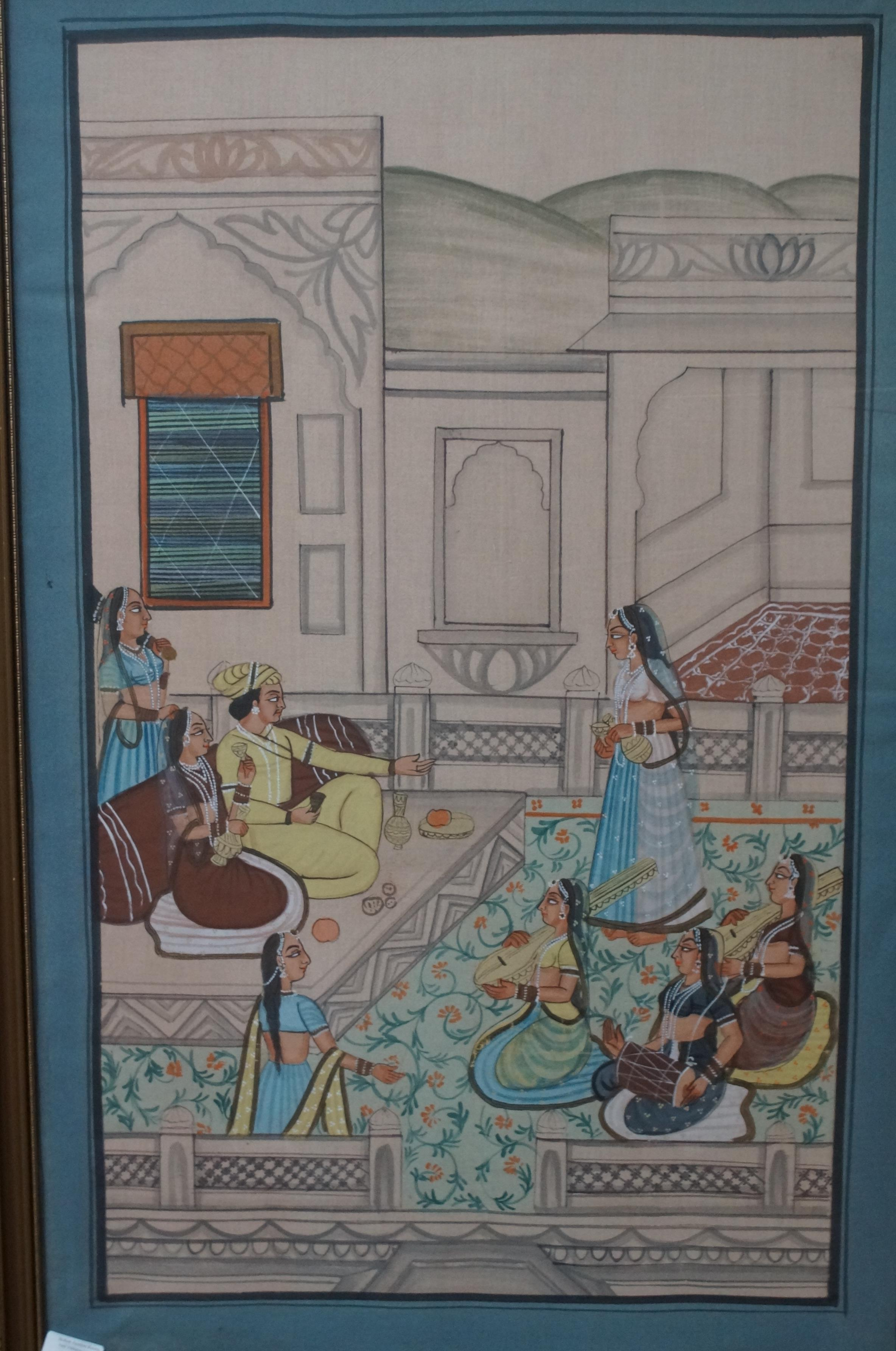 Lot 36 - Large Indian painting - relisted due to none payer