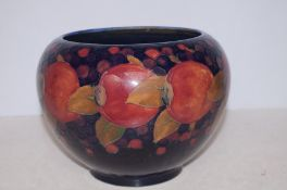Moorcroft pomegranate vase, nibble to rim-see images Height 18 cm