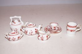 Coalport Indian tree miniature ceramic tea set