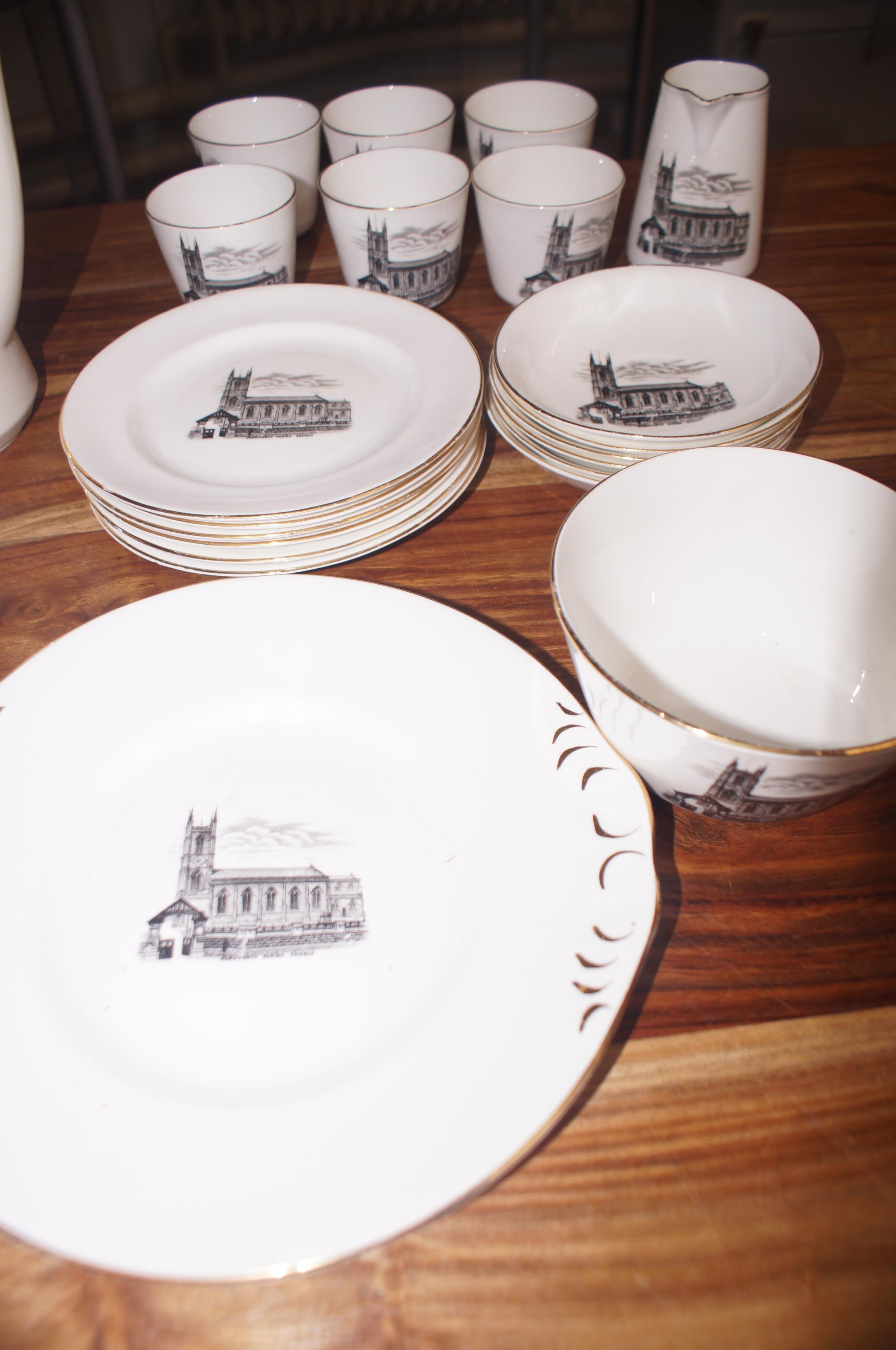 Lot 107 - Collection of early Bolton Parish church ceramics