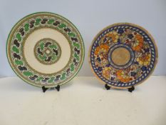 2 x Charlotte Rhead Chargers Largest 35cm diameter