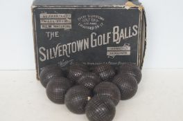 Very rare collection of Silvertown golf balls, all
