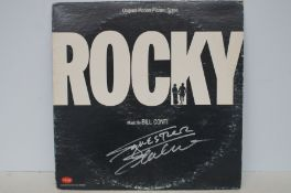 Rocky original motion picture LP, signed Sylvester