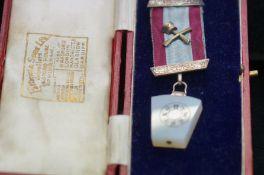 Cased masonic jewel